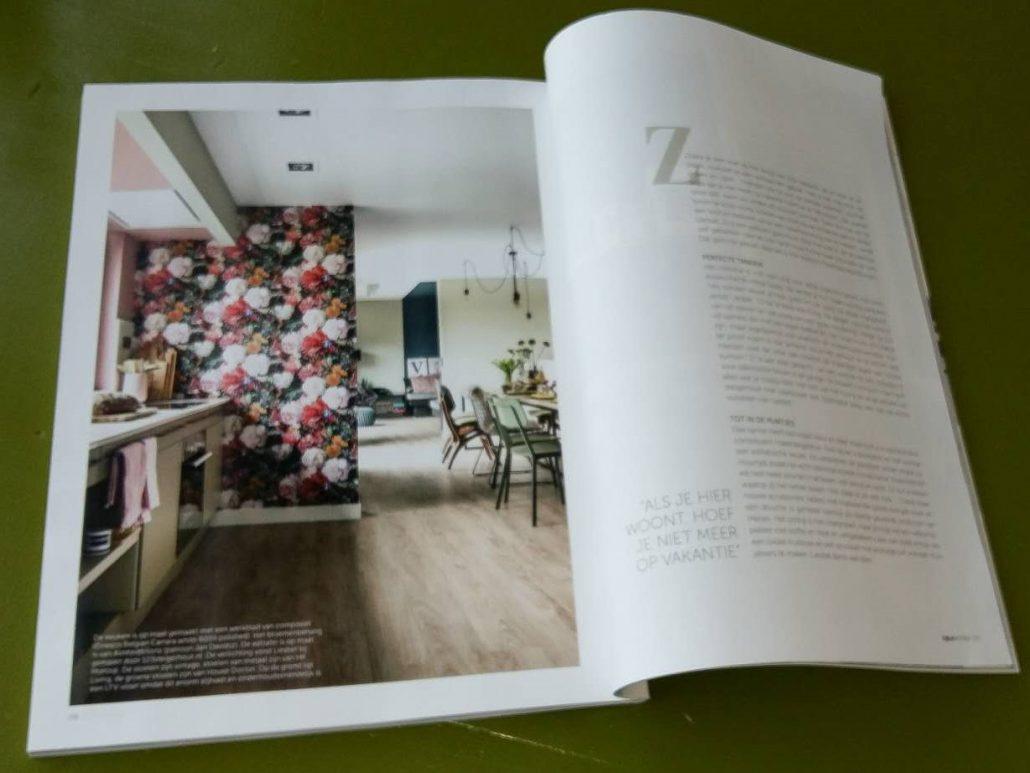 Villa Veldzicht is al enkele keren vermeld in magazines, het mooie en comfortabele interieur wordt dan telkens belicht