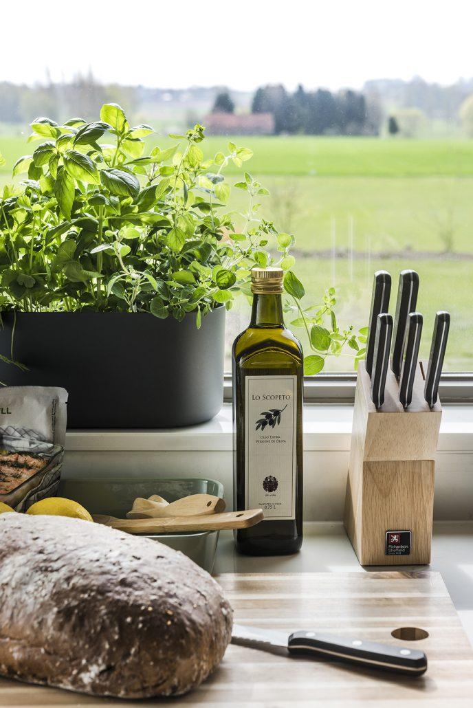 Leuke extra's zoals olijfolie, peper en zout, verse tuinkruiden, koffiecapsules... zijn altijd aanwezig