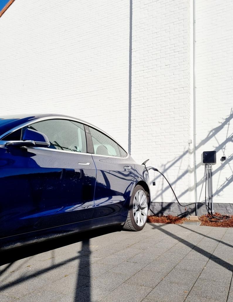 Elektrische wagen opladen
